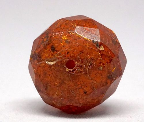 Large Faceted Ancient Amber Bead, Byzantine period, 1st Millennium CE