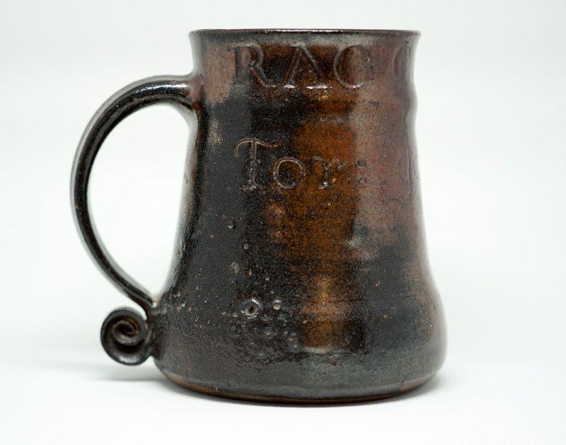 A Unique Bernard Leach Incised Pottery Mug