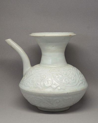 Late Song Dehua Porcelain Kendi with Floral Design