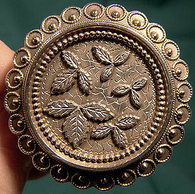 VICTORIAN AESTHETIC STERLING PIN c1870s-80s