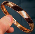 10K GOLD BANGLE BRACELET 1970s