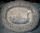 """R.A. Kidston 20"""" LONDON Scene United Kingdom MEAT PLATTER 1840"""