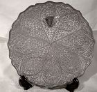 INDIA PUNCHWORK STERLING SILVER SALVER WALL PLAQUE 1900