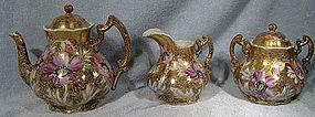 Stunning NIPPON 3 Pc. HAND PAINTED TEA SET TRIO 1880s