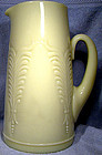 "HEISEY EAPG WINGED SCROLL CUSTARD Glass 9-1/2"" Tall PITCHER 1900"