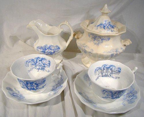 Rare Set BIRTH OF EDWARD VII COMMEMORATIVE CHINA 1841