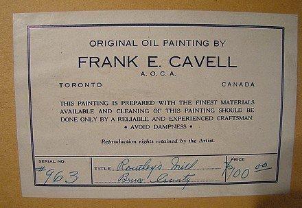 Frank E Cavell (Canada 1909-80) OIL ON BOARD c1950s