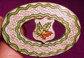 WWI STERLING ENAMEL SWEETHEART PIN c1914-18