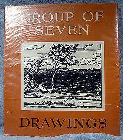 Paul Duval GROUP OF SEVEN DRAWINGS ART BOOK