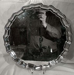 BIRKS STERLING SILVER ROUND CHIPPENDALE SERVING TRAY