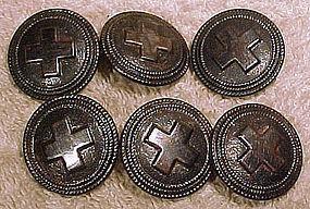 Set of 6 WORLD WAR I NURSE'S UNIFORM BUTTONS