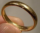 18K YELLOW GOLD WEDDING RING Rounded Band 18 K Size 8