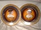 Pair Superb CZECH DECO CABINET PLATES 1920s