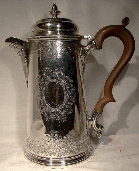 Fine Engraved ELLIS BARKER Silver Plated COFFEE POT 1920s