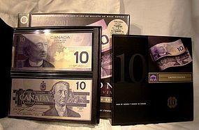 CANADA 1986-2001 LASTING IMPRESSIONS $10 Banknotes Set