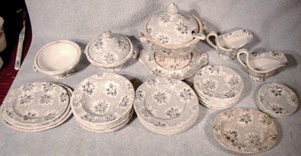 Victorian CHILD'S IRONSTONE DINNER SET 1860 35 Pc.