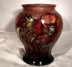 """Moorcroft Flambe Anemone Vase 1947-53 English Art Pottery 5-7/8"""""""
