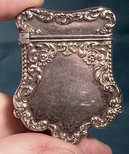 Unger Bros Sterling Silver Stamp Safe Case 1890 Antique American