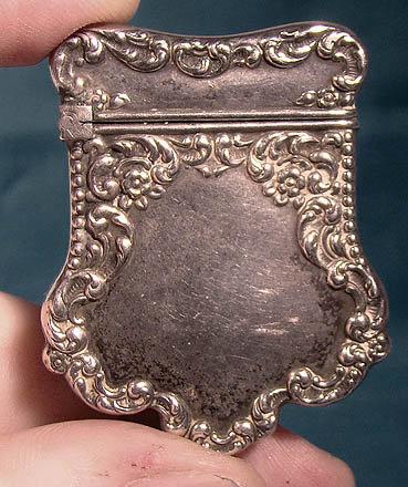 Unger Bros Sterling Silver Stamp Safe Case 1890 Antique American