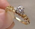 14K Yellow Gold Diamonds Engagement Ring 1960s 14 K Appraisal
