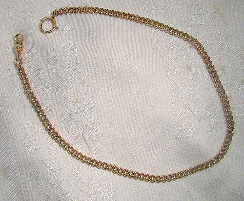 Finberg Mfg. Co. Curb Link Gold Filled Man's Pocket Vest Watch Chain