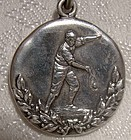 Sterling Silver C.H.S. Tennis Sports Award Fob Pendant 1914 Ryrie Bros