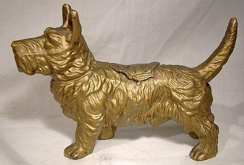 Niagara Falls Scottie Dog Souvenir Figurine 1910 1920