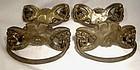 Set of 4 Victorian Brass Drawer Pulls 1890s
