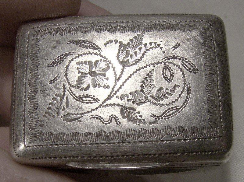 William IV Sterling Silver Vinaigrette - Thomas Shaw Birmingham 1833