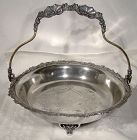 Monarch Silver Plate Handled Bride's Fruit or Bread Basket 1890s