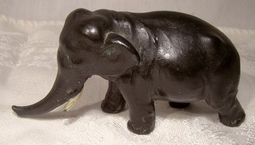 Cast Spelter Asian Elephant Figurine 1920s