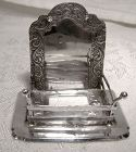 Antique Dutch Silver Hand Made Miniature Fireplace 1900 or Earlier