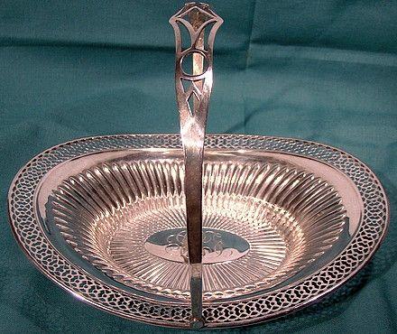 Webster Sterling Silver Swing Handle Candy Basket 1910