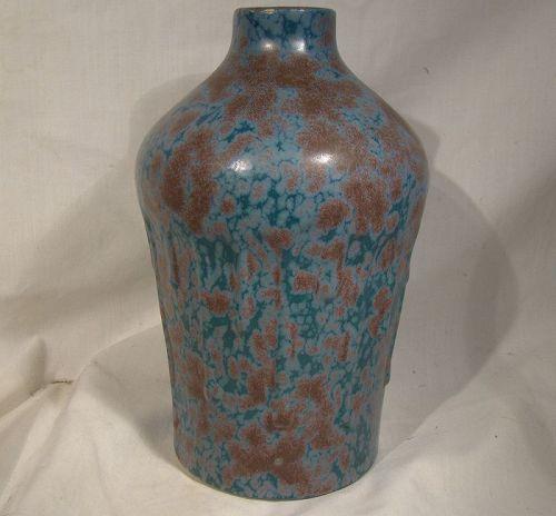 """Revernay France Art Studio Pottery 8-1/4"""" Tall Vase 1920s"""