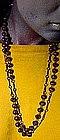 Purple GLASS FLAPPER BEAD NECKLACE 1930s