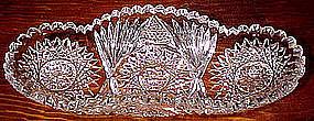 Signed RODEN THOMAS BRILLIANT CUT ROLL DISH c1910-30