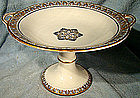 WEDGWOOD PEARLWARE BLACK TRANSFER COMPORT c1878