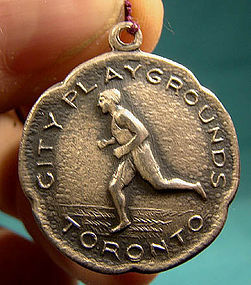 TORONTO CITY PLAYGROUNDS STERLING SPORT FOB c1925