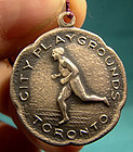 STERLING SILVER SPORT FOB 1925 TORONTO CITY PLAYGROUNDS