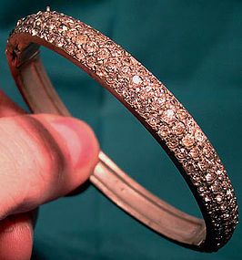 EDWARDIAN Pot Metal PASTE BANGLE 1910-20