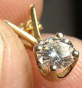 14K DIAMOND PENDANT on CHAIN - Great Gift!