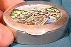 ENAMEL 800 SILVER BAD EMS SNUFFBOX SNUFF BOX Germany City