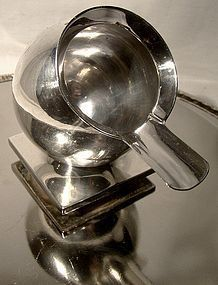 Industrial ART DECO STERLING GLOBE ASHTRAY 1928
