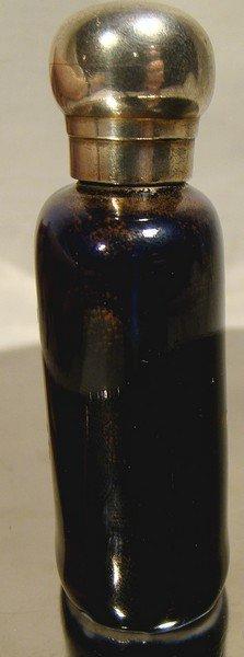 19thC COBALT & ENAMEL PORCELAIN PERFUME BOTTLE