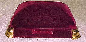BULOVA CANADA VELVET MAN'S WRISTWATCH BOX c1930s