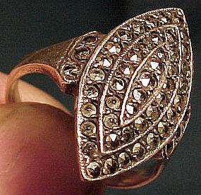 Vintage Art Deco STERLING MARCASITE RING c1920-30