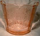 Paden City Cupid Etch Pink Depression Elegant Glass Ice Tub