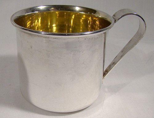Sterling Silver Baby Mug 1950s - Never Monogrammed