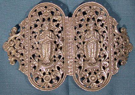 Indonesian Yogya Solid Silver Belt Buckle 1900 or Earlier