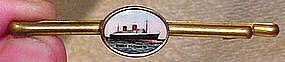 Cunard QUEEN ELIZABETH I SHIP TIE CLIP c1930s